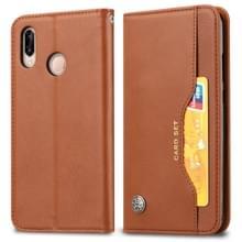 Knead huidtextuur horizontale Flip lederen case voor Xiaomi Redmi Note 7 & 7 Pro  met foto frame & houder & kaartsleuven & portemonnee (bruin)