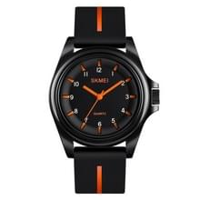 SKMEI 1578 Creative Stereo Dial Student Watch Casual Simple Male Quartz Watch (Orange)