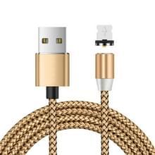 USB naar 8 Pin Magnetic Metal Connector Nylon Two-color Gevlochten magnetische datakabel  kabellengte: 1 m (goud)