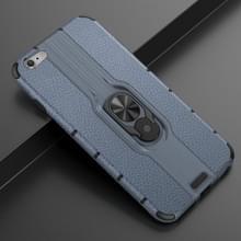 Voor iPhone 6 Plus Schokbestendige PC + TPU-hoesje met ringhouder(Navy Blue)
