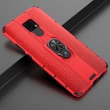 Voor Huawei Mate 20 X Schokbestendige PC + TPU-hoesje met ringhouder(rood)