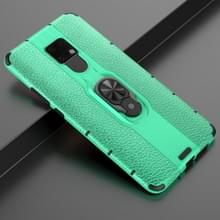 Voor Huawei Mate 20 X Schokbestendige PC + TPU-hoesje met ringhouder(groen)