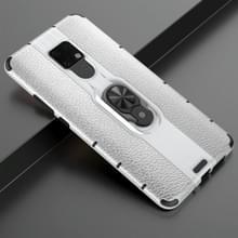 Voor Huawei Mate 20 X Schokbestendige PC + TPU-hoesje met ringhouder(zilver)