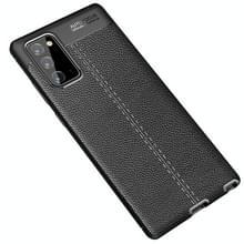 Voor Samsung Galaxy Note 20 Litchi Texture TPU Shockproof Case(Zwart)