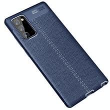 Voor Samsung Galaxy Note 20 Litchi Texture TPU Schokbestendige case (Navy Blue)