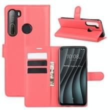 Voor HTC Desire 20 Pro Litchi Texture Horizontale Flip Beschermhoes met Holder & Card Slots & Wallet(Rood)