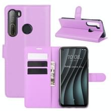 Voor HTC Desire 20 Pro Litchi Texture Horizontale Flip Beschermhoes met Holder & Card Slots & Wallet(Paars)
