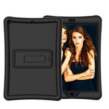 Voor iPad 10.2 Schokbestendige siliconen + pc-beschermhoes met houder(zwart)