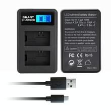 Voor Sony NP-FW50 Smart LCD Display USB Dual Charger
