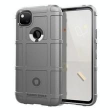 Voor Google Pixel 5 Full Coverage Shockproof TPU Case (Grijs)