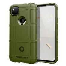 Voor Google Pixel 5 Volledige dekking Shockproof TPU Case (Army Green)