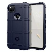 Voor Google Pixel 5 Full Coverage Shockproof TPU Case(Blauw)