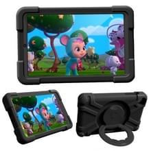 Voor Galaxy Tab A 8.4 (2020) T307 PC + Siliconen Schokbestendige Combinatiecase met 360 graden roterende houder & handvat(zwart)