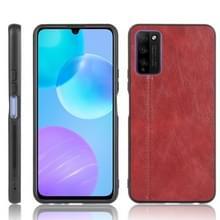 Voor Huawei Honor 30 Youth/Honor 30 Lite Schokbestendige naaikoeienpatroon skin PC + PU + TPU-hoesje(rood)