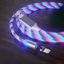 USB naar 8 Pin Magnetische Zuiging Kleurrijke Streamer Mobiele Telefoon Oplaadkabel  Lengte: 1m (Kleurlicht)