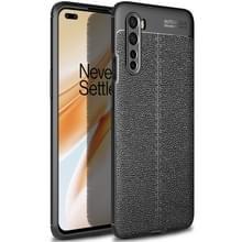 Voor OnePlus Nord Litchi Texture TPU Shockproof Case(Zwart)