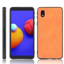 Voor Samsung Galaxy A01 Core / M01 Core Schokbestendige naaikoeensysy pc + PU + TPU case(oranje)
