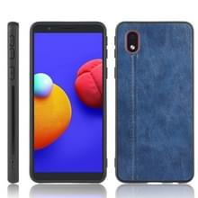 Voor Samsung Galaxy A01 Core / M01 Core Schokbestendige naaikoeensysy pc + PU + TPU case(blauw)