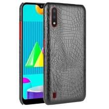 Voor Samsung Galaxy M01 Schokbestendige Crocodile Texture PC + PU Case(Zwart)