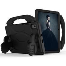 Voor GalaxyTab S6 10.5 T860 EVA Materiaal kinderen platte anti vallende cover beschermende shell met duimbeugel (zwart)