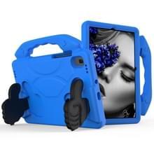 Voor GalaxyTab S6 10.5 T860 EVA Materiaal kinderen platte anti vallende cover beschermende shell met duimbeugel (blauw)
