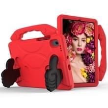 Voor GalaxyTab S6 10.5 T860 EVA Materiaal kinderen platte anti vallende cover beschermende shell met duimbeugel (rood)