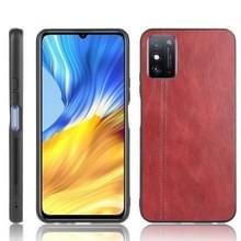 Voor Huawei Honor X10 Max 5G Schokbestendige naaikoespatroon skin PC + PU + TPU case(rood)