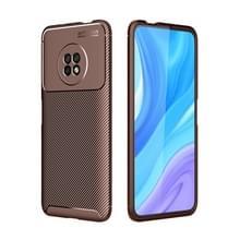 Voor Huawei Geniet van 20 Pro Carbon Fiber Texture Shockproof TPU Case (Bruin)