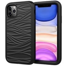 Voor iPhone 11 Pro Wave Patroon 3 in 1 Siliconen +PC Schokbestendige beschermhoes (Zwart)