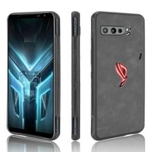 Voor Asus ZS661KS/ ROG Phone 3 Strix Schokbestendige schapenhuid PC + PU + TPU case(zwart)