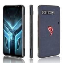 Voor Asus ZS661KS/ ROG Phone 3 Strix Schokbestendige schapenhuid PC + PU + TPU case(blauw)