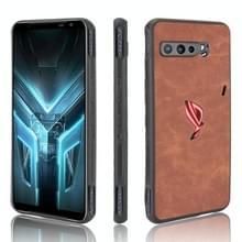 Voor Asus ZS661KS/ ROG Phone 3 Strix Schokbestendige schapenhuid PC + PU + TPU case(bruin)