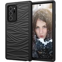 Voor Samsung Galaxy Note20 Wave Pattern 3 in 1 Siliconen+PC Schokbestendige beschermhoes(Zwart)