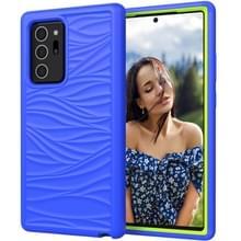Voor Samsung Galaxy Note20 Wave Pattern 3 in 1 Siliconen+PC Schokbestendige beschermhoes (Blue+Olivine)