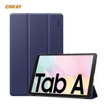 ENKAY ENK-8009 Voor Samsung Galaxy Tab A7 10.4 2020 T500 / T505 PU Leder + Plastic Smart Case met drie vouwen houder (Donkerblauw)