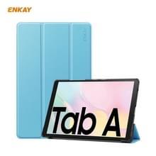 ENKAY ENK-8009 Voor Samsung Galaxy Tab A7 10.4 2020 T500 / T505 PU Leder + Plastic Smart Case met drieklapbare houder (lichtblauw)