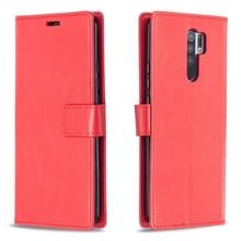 Voor Xiaomi Redmi 9 Crazy Horse Texture Horizontale Flip Lederen Case met Holder & Card Slots & Wallet & Photo Frame(Red)
