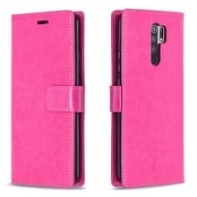 Voor Xiaomi Redmi 9 Crazy Horse Texture Horizontale Flip Lederen Case met Holder & Card Slots & Wallet & Photo Frame(Rose)