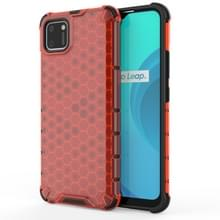 Voor OPPO Realme C15 Shockproof Honeycomb PC + TPU Case(Red)