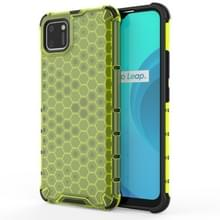 Voor OPPO Realme C15 Shockproof Honeycomb PC + TPU Case(Groen)