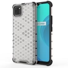 Voor OPPO Realme C15 Shockproof Honeycomb PC + TPU Case(White)