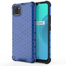 Voor OPPO Realme C11 Schokbestendige honingraat PC + TPU Case(Blauw)