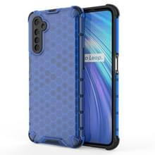 Voor OPPO Realme 6 Shockproof Honeycomb PC + TPU Case(Blauw)
