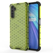 Voor OPPO Realme 6 Shockproof Honeycomb PC + TPU Case(Groen)