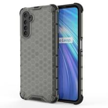 Voor OPPO Realme 6 Shockproof Honeycomb PC + TPU Case(Grey)