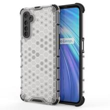 Voor OPPO Realme 6 Shockproof Honeycomb PC + TPU Case(White)