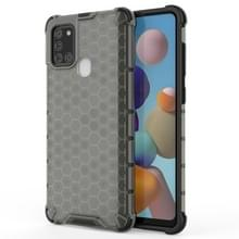 Voor Samsung Galaxy A21S schokbestendige honingraat PC + TPU case(grijs)