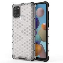 Voor Samsung Galaxy A21S schokbestendige honingraat PC + TPU case(wit)