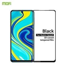 Voor Xiaomi Redmi Note 9/10X 4G MOFI 9H 3D Explosiebestendig gebogen scherm gehard glas film(Zwart)