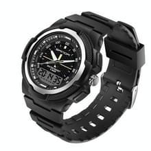 Sanda 3004 Electronic Watch Movement Men Watch Outdoor Sports Lichtgevend Waterdicht Multi-Functie Horloge (Zilver)